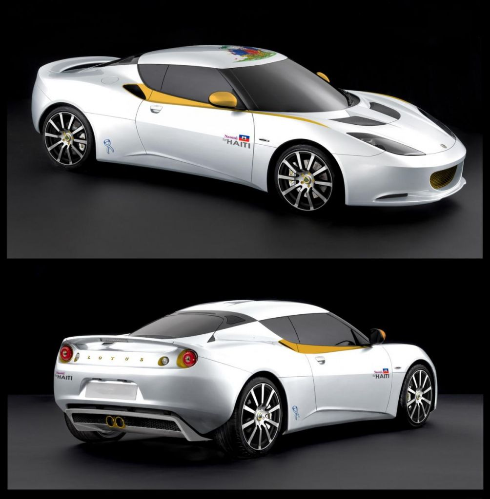 """Naomi for Haiti"" Lotus Evora"
