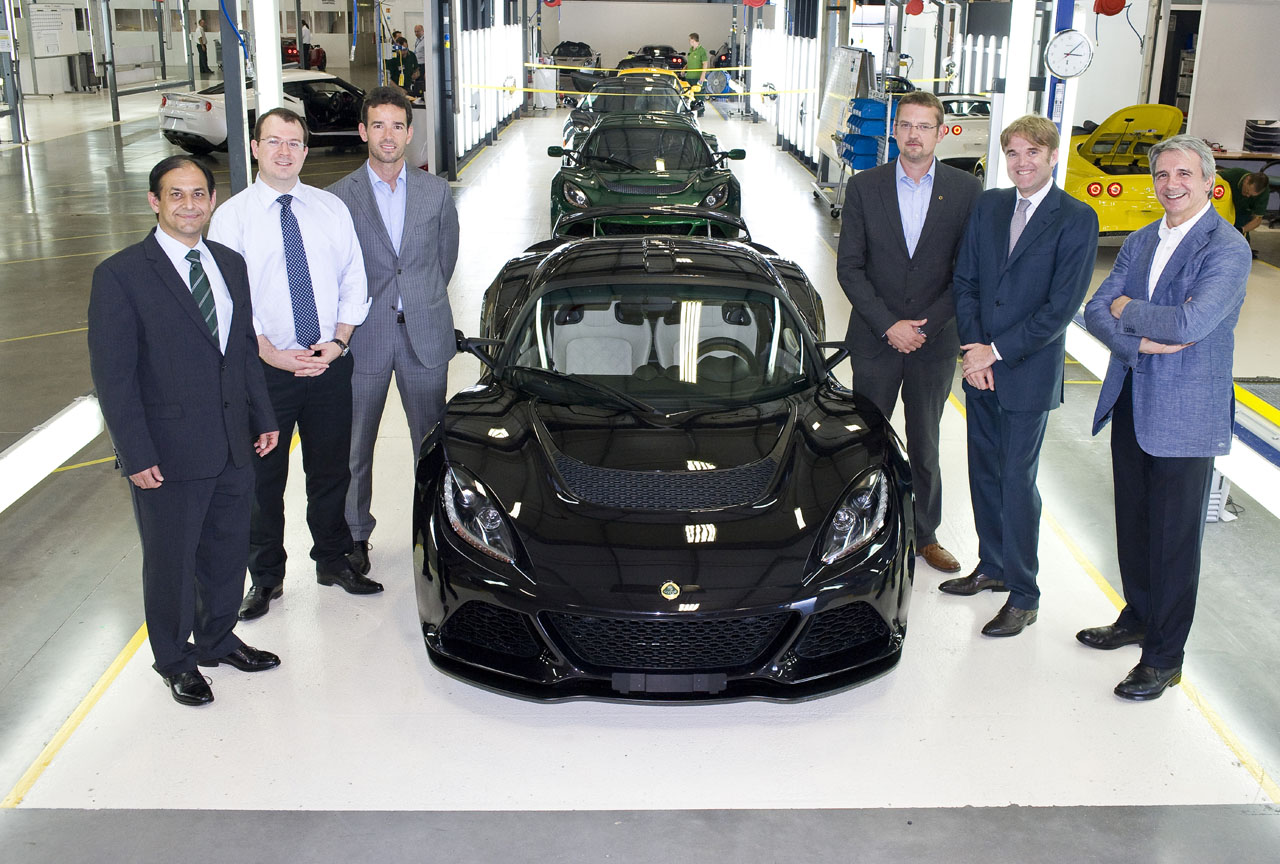 First Exige S off the production line